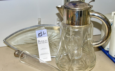 Decanter, Tray and Vial