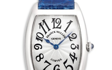Franck Muller, Ref. 1752 Q A lady's fine white gold tonneau-shaped wristwatch
