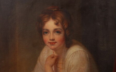 HARRIET CHRISTINA CANY PEALE (American, 1800-1869). PORTRAIT OF YOUNG WOMAN...
