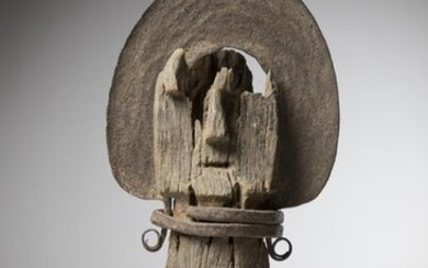 IGBO, Nigeria. Fragmented Ofo sculpture, of exceptional size...