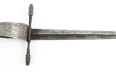 LEFT HANDED PARRYING DAGGER ETCHED GUARD