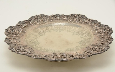 Large sterling silver low footed centerpiece bowl with