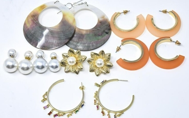 Lot of 5 pairs of Costume Jewelry Earrings