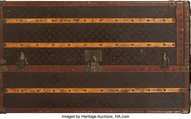 Louis Vuitton Coated Canvas Vertical Steamer Trunk Condition: 4...