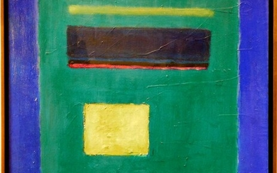 Mark Rothko Attr. : Abstract Composition in Greens and Blues