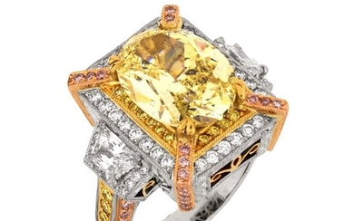 Michael Beaudry Fancy Yellow Diamond Ring