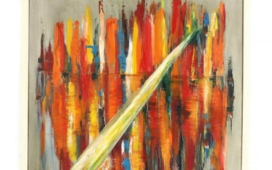 Mid-Century Abstract Painting by Isabell Keely