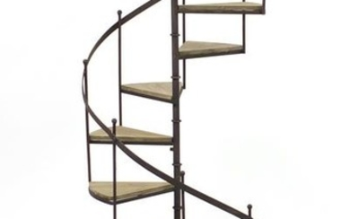 Novelty wrought iron spiral staircase design plant