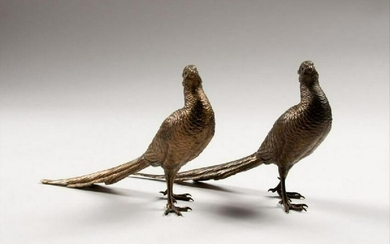 Pair Of Bergman Austrian Bronze Pheasants