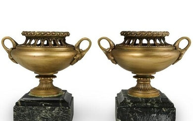 Pair of Bronze Urn Bookends