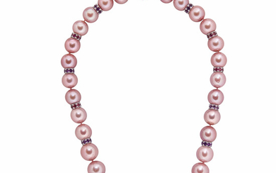 Pink South Sea Pearl Necklace
