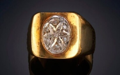 RING WITH OVAL OF BRIGHTNESS on a frame in 18k yellow gold Price: 225,00 Euros. (37.437 Ptas.)