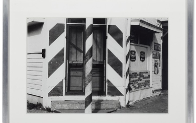 Ralston Crawford (American, 1906-1978), Untitled (Pete and Jack's Barber Shop, New Orleans)