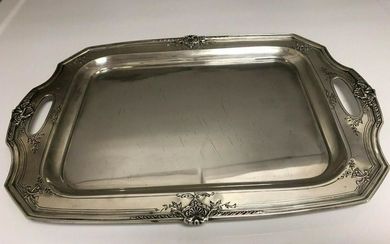Reed And Barton Sterling Tray 15x10.5 No Monogram