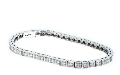Riviere bracelet in gold and diamonds