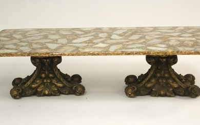 Rococo Style Gilt Composition Coffee Table