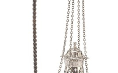 SILVER-PLATED CENSER MODEL - EARLY 20TH CENTURY
