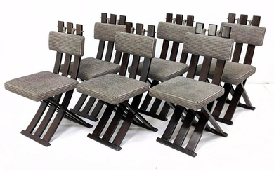 Set 6 HARVEY PROBBER Sculptural Dining Chairs. Chairs w