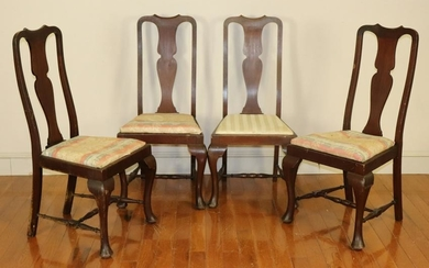 Set of Queen Anne Style Mahogany Chairs
