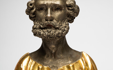 Sculpture, bust of St Peter, wood, probably 17th/ 18th century