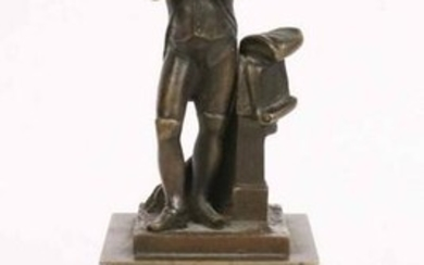 Small French Bronze of Napoleon on Pedestal