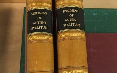 Specimens of ANTIENT SCULPTURE Aegyptian, Etruscan, Greek and Roman - Selected from different Collections in Great Britain - Society of Dilettanti Volume One 75 Plates and Volume Two 56 Plates - together 131 Plates (Original Prints) & 6 In-text...