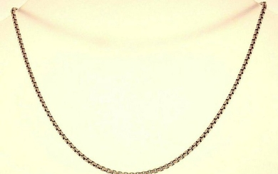 Sterling Silver Box Link Watch Chain