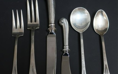 Sterling Silver Flatware Svc. by Tuttle, Onslow