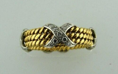 TIFFANY & CO.SCHLUMBERGE; R 18K YELLOW GOLD DIAMOND X