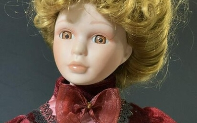 Vintage Victorian Style Porcelain Standing Doll