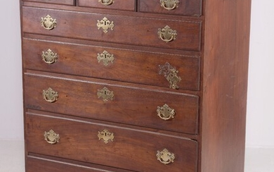 Walnut Chippendale Tall Chest, 18th c