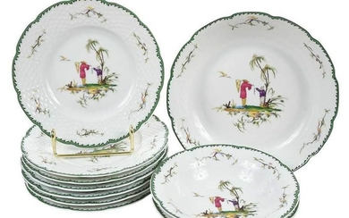 10 Pieces of Raynaud Si Kiang Limoges Porcelain