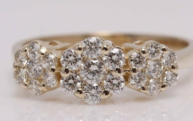 14 kt. Yellow gold - Ring - 0.65 ct Diamond