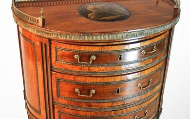 George III Brass Mounted Demilune Chest