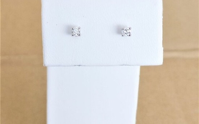18 kt. White gold - Earrings - 0.18 ct Diamond