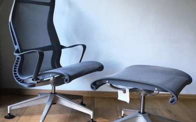 Studio 7.5 - Herman Miller - lounge chair + ottoman (1) - Herman Miller Setu Lounge
