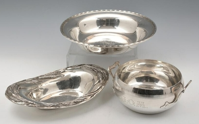 3 Piece Sterling Silver Group, Shreve and Towle.