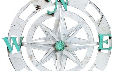 3dimensional Wall Hanging Compass with Rotating Star