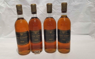 4 bottles Château GUIRAUD 1964 SAUTERNES, perfect labels and levels. 2 damaged capsules.