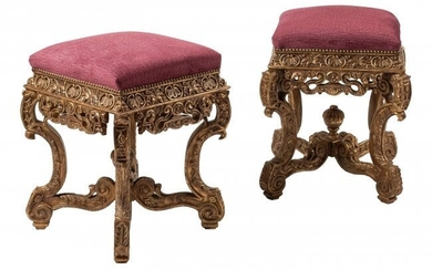 61083: A Pair of French Regence-Style Carved Gilt Wood