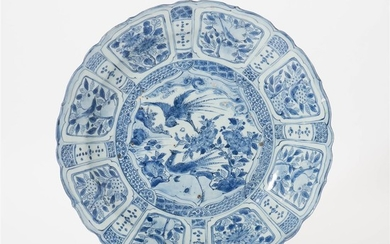 A Chinese blue and white 'kraak' charger Wanli...