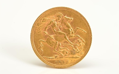 A FULL GOLD SOVEREIGN GEORGE V 1912