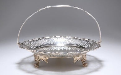 A GEORGE V SILVER CAKE STAND, by Walker & Hall