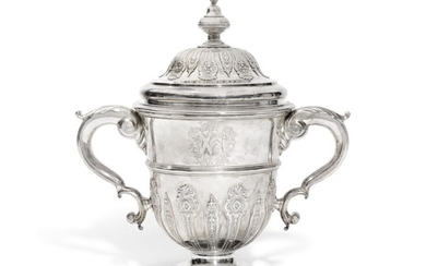 A George II silver two-handled cup and cover, John Le Sage, London, 1732