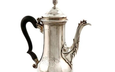 A George III silver coffee pot, possibly by...