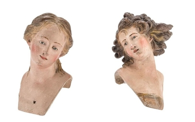 A PAIR OF BUSTS IN EARTHENWARE - NAPLES LATE 18TH CENTURY