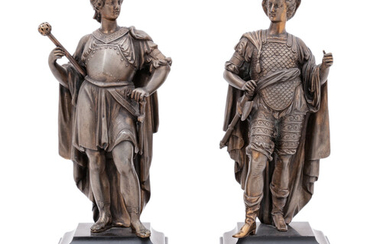 A Pair of Continental Cast Metal Figures