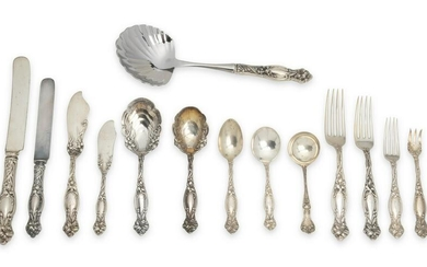 A Simpsons Hall Miller sterling silver flatware service