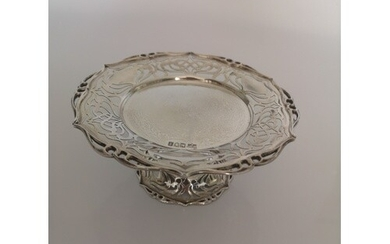 A Sterling Silver Tazza. Mappin and Webb, London 1904. With ...