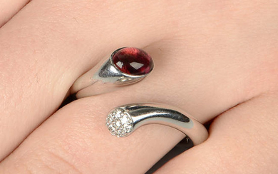 A diamond and deep pink tourmaline 'Carnival' ring, by Georg Jensen.
